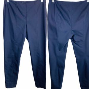 St. John Blue High Waisted Cropped Ankle Pants 8